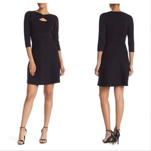 NWT Nanette Black Twist Front Knit Sweater Dress